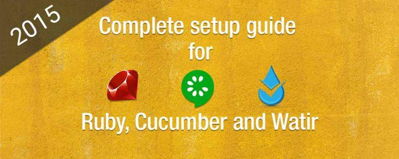 Setting up Ruby, Cucumber, and Waitr on Windows