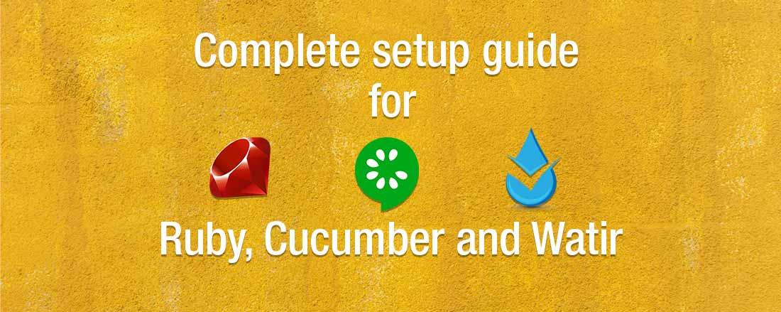 Set up Cucumber, Ruby and Waitr on Windows