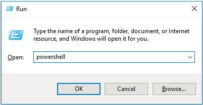 Opening PowerShell