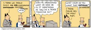 Dilbert on Continuous Delivery Pipeline