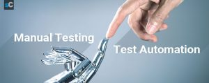 The difference between manual testing and test automation.