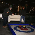 Curling on a roof top in Amsterdam