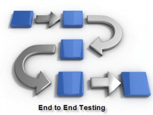 End to end testing diagram