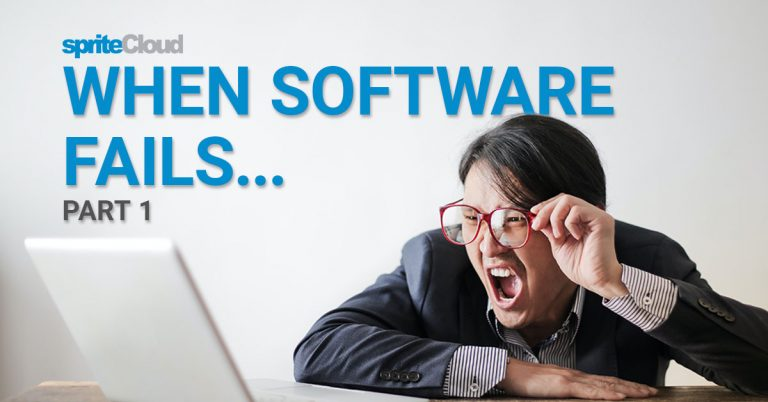 When software fails people get mad or hurt.