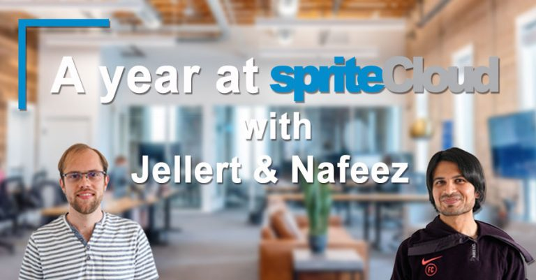 A year at spriteCloud: an interview with Jellert and Nafeez